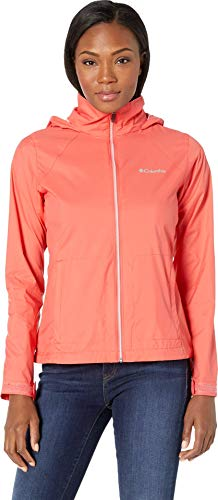 Columbia Women's Switchback III Adjustable Waterproof Rain Jacket, Red Coral, ()