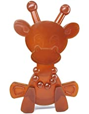 Bambeado Amber Teething Toy Little Bamber Is A Amber And Rubber Giraffe Teething Toy For Natural Teething Pain Relief Comforting Texture Teething Toy One Size brown