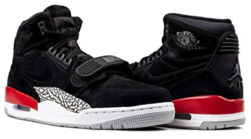 Nike AIR Jordan Legacy 312 Mens Basketball-Shoes AV3922-060_7.5 - Black/Black-FIRE RED