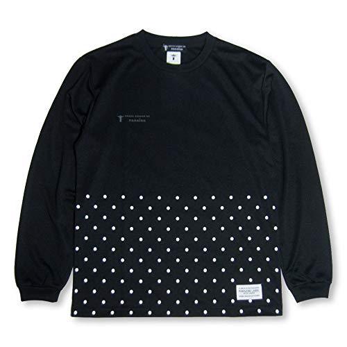 復活決定的殺すNOSSO SENHOR DO PARAISO(ノッソセニョールドパライーゾ) Dot Bottom ロングプラシャツ(np-00-481) (M, ブラック)