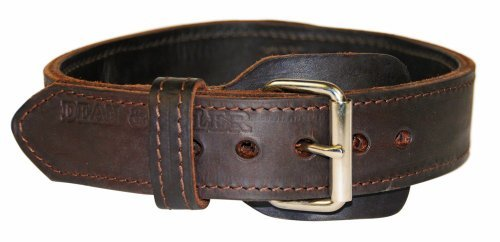 dean-and-tyler-simplicity-leather-dog-collar-with-chrome-plated-steel-hardware-brown-size-28-inch-by