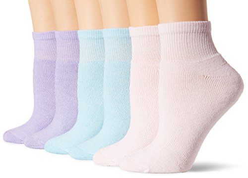 Fruit-Of-The-Loom-Womens-Plus-Size-Core-6-Pack-Ankle-Socks