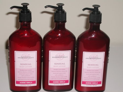 Lot of 3 Bath & Body Works Aromatherapy Jasmine Vanilla Body Lotion 6.5 fl oz (Jasmine Vanilla)