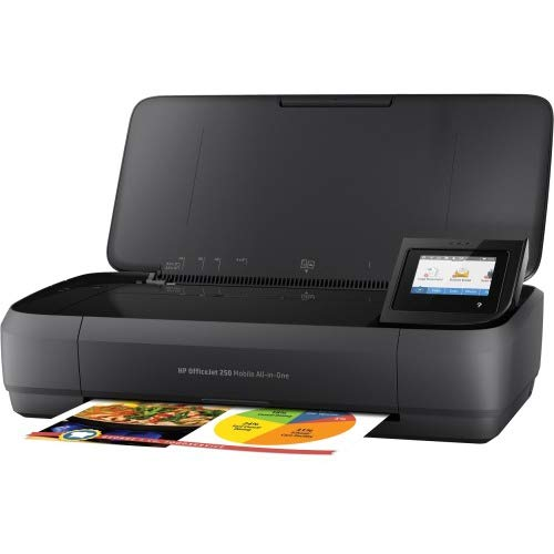 HP OfficeJet 250 All-in-One Portable Printer with Wireless & Mobile Printing (CZ992A), Black, Normal