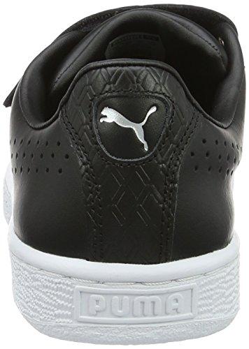 Puma Unisex-Erwachsene Basket Classic Strap B&w Low-Top Schwarz (puma black-puma white 01)