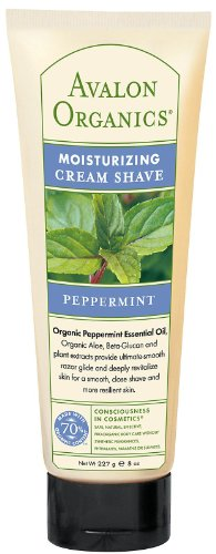 Avalon Organics Moisturizing Cream Shave, Peppermint 8 oz ( Pack of 8) by Avalon
