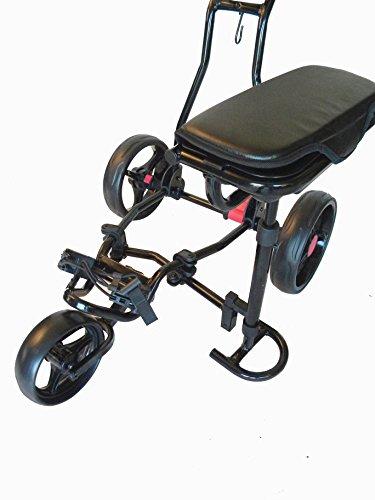 Spider 3 Wheel Golf Cart with Seat (Black)