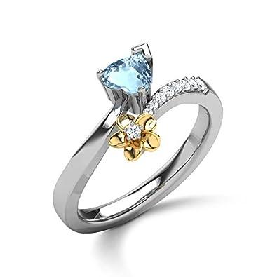 607f7f1281981 CaratLane 18K 2 Color Gold and Diamond Ring