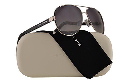 Marc Jacobs Marc 66/S Sunglasses Palladium Shiny Black w/Polarized Grey Lens 60mm UUVWJ MJ66/S MJ 66/S Marc 66S Marc66/S (Authentic Marc Jacobs Eyewear Sunglasses)