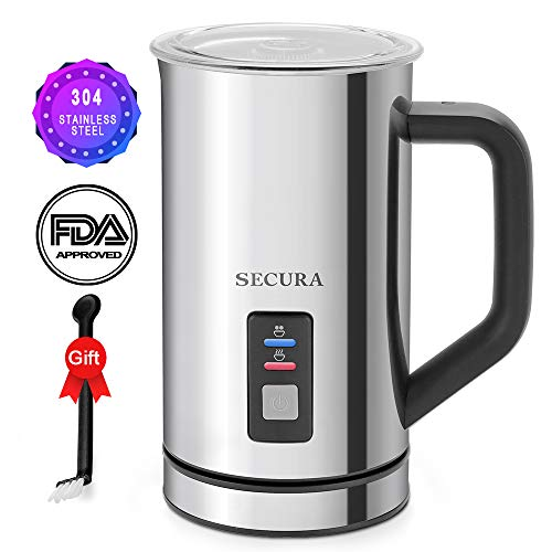 Secura Automatic Electric Milk Frother and Warmer (250ml)