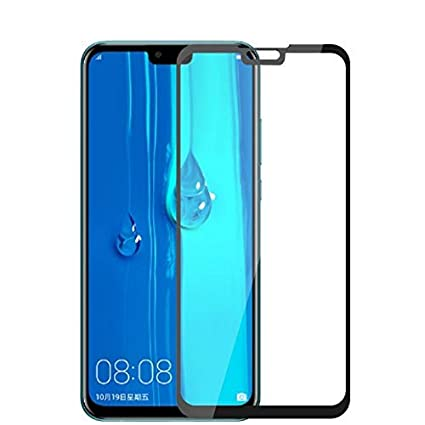 ShopByShop Huawei Y9 2019 Tempered Glass 5D [Pack of 1] Full Edge to Edge  Tempered Glass for Huawei Y9 2019 (Black)