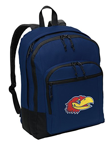 Classic University of Kansas Backpack Medium KU Jayhawks Backpack Laptop Sleeve (Kansas Jayhawks Backpack)