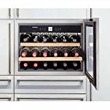 Liebherr HWS-1800 Built-in, Integrated Wine Cabinet, 18 bottle capacity, Stainless Steel door, LED dimmable lights For Sale