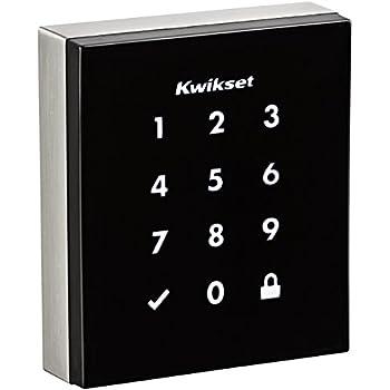 Kwikset Obsidian Keyless Touchscreen Electronic Deadbolt in Satin Nickel