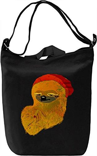 Sloth Smoking Weed Borsa Giornaliera Canvas Canvas Day Bag| 100% Premium Cotton Canvas| DTG Printing|