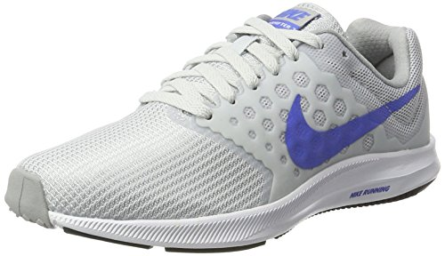Nike Damen Downshifter 7 Laufschuhe Weiß (Blanco/(Pure Platinum/Medium Blue/Wolf Grey) 000)