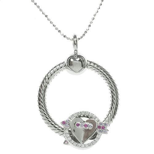 Colgante círculo con charm LOVE intercambiable y cadena de Plata de Ley 925