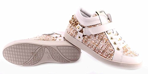 Damen High Top Sneakers Schuhe LIU JO Snow White Sneaker Mid Cyril Leder Fabric
