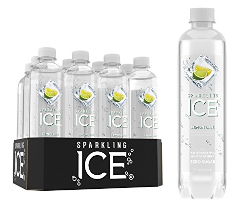 Sparkling Ice Lemon Lime Sparkling Water, with Antioxidants and Vitamins, Zero Sugar, 17 Ounce Bottles (Pack of 12) -