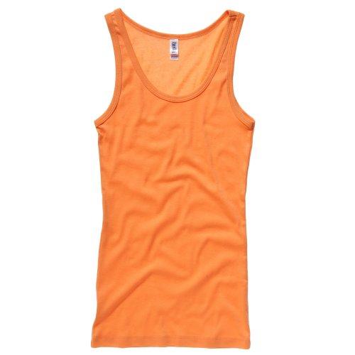 BC Camiseta de tirantes fina de canalé para chica mujer Naranja Pago ... b5b6356f61c2
