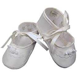 Girls Silk Dupioni Christening Shoes