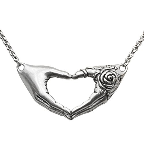 Controse Hand with Rose Necklace Love Pendant 16