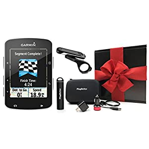 Garmin Edge 520 GIFT BOX   Bundle includes Cycle GPS Computer, PlayBetter Portable USB Charger, PlayBetter USB Car & Wall Adapters, Hard Carrying Case, Bike Mounts, USB Cable   Gift Box, Red Bow