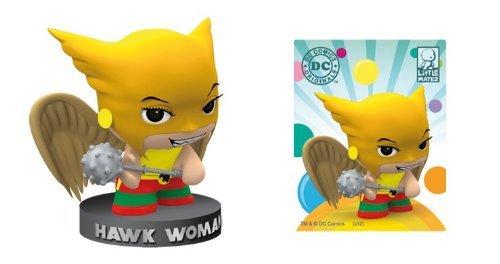 (DC Comics Little Mates Hawk Woman Figurine And Puff)