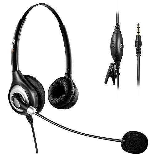 Arama Wantek Headset with Noise Canceling Boom Mic and Adjustable