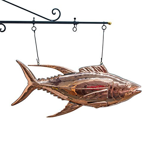 fish market TUNA FISH copper SIGN 3d restaurant Decor Sea Food trade Sign ()