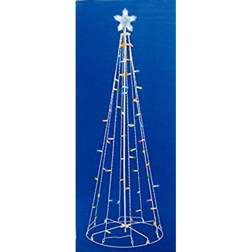 Outdoor lighted christmas decorations amazon sienna multicolored led lighted outdoor christmas cone tree yard art decoration 5 workwithnaturefo