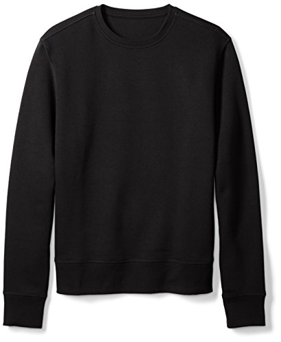 Amazon Essentials Men's Crewneck Fleece Sweatshirt, Black, Large