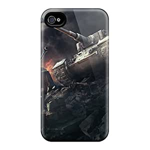 New ZkBLDrU1538LbEAy Wargaming World Of Tanks Skin Case Cover Shatterproof Case For Iphone 4/4s