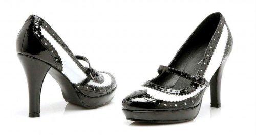 Patin À Chaussures Taille 9 - Ha69f9 - Chaussure De Style Mary-jane, Talon De 4 Pouces Avec Design À Bout Daile. Taille 9