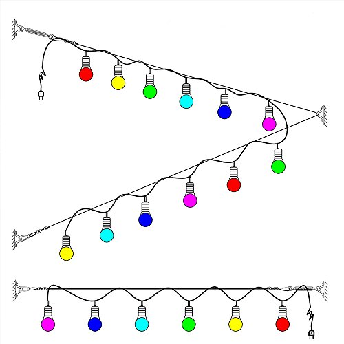 Tresbro Stainless Steel Guide Wire 164 ft Globe Lights Suspension Kit String Light Hanging Cable Railing Kit Decorative Lights Hanging Wire 164 ft Rope Cable,Turnbuckle and Hooks by Tresbro (Image #3)