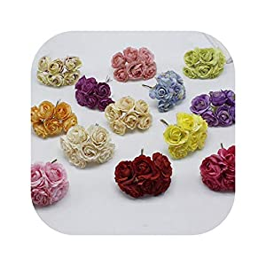 Blue Skieses 6pcs / lot New Chrysanthemum Daisy Silk Flower Artificial Flower Simulation Handmade Fabric for Wedding Decoration DIY 2