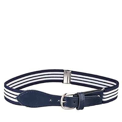 Kids Striped Elastic Strech Belt with Leather Closure (Availaible in 3 Stripes)