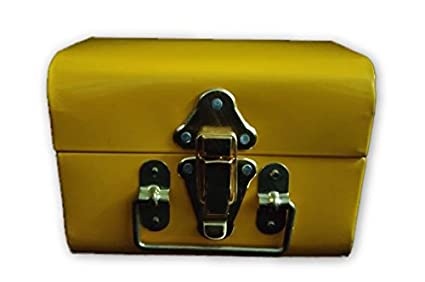 Gs Collection Vintage Trunk Box Metal Storage Return Gift