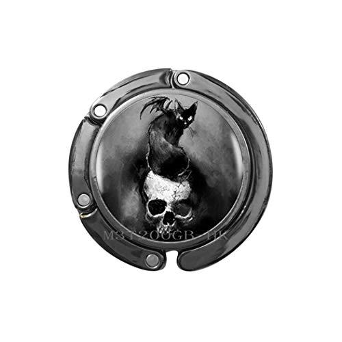 Lady Jewellery Hanger - Bat on Skull Bag Hook Statement Purse Hook for Women Dress Accessories Photo Jewelry Photo Jewelry Bridesmaid jewelry-MT159 (W1)