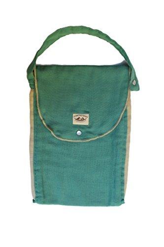 Pañal Orgánica bolsa: Pack-N-Run Esmeralda / Beige