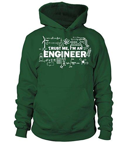 Uomo Bottiglia An Felpa Con Me Verde I'm Teezily Cappuccio Donna Trust Engineer qtwOaPP8x
