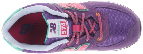 New Balance Classic Traditionnel Purple Youths Trainers Size 6 UK