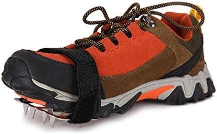 nobrand Einfach Slip On Unisex EIS Schneeschuhgreifer Außen Spikes Winter-Universal-Steigeisen Traction Erwachsene Kinder Angeln Schlupf Klampen (Shoe Size : 2)
