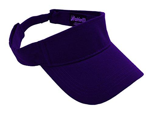 LAfashion101 Sun Sports Visor Hat Cap - Classic Cotton for Men Women, PUR