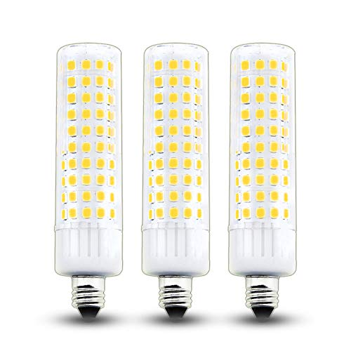Bonlux Dimmable LED E11 Light Bulb, 8.5W - 100W Halogen Bulbs Equivalent, 120V JD T3/T4 E11 Mini Candelabra Base LED Corn Light for Pendants Landscape Table Lamp, Warm White 3000K (3-Pack) ()