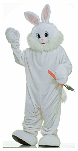 Forum Deluxe Plush Bunny Rabbit Mascot Costume - Pick Size (Large, White)