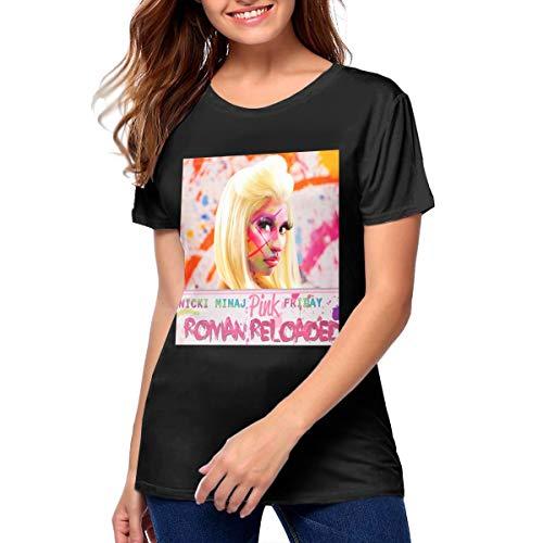 Nicki Minaj Roman Reloaded Fashion Casual Womans Printed T-Shirt M Black]()