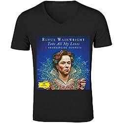 Rufus Wainwright Shakespeare Men V Neck Musicshirts Black