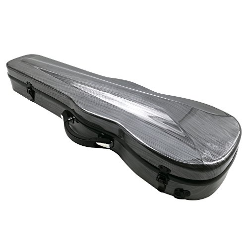 Kinglos Carbon-Like Fiber Violin Hard Case Full Size 4/4 (Gray & Ripple)