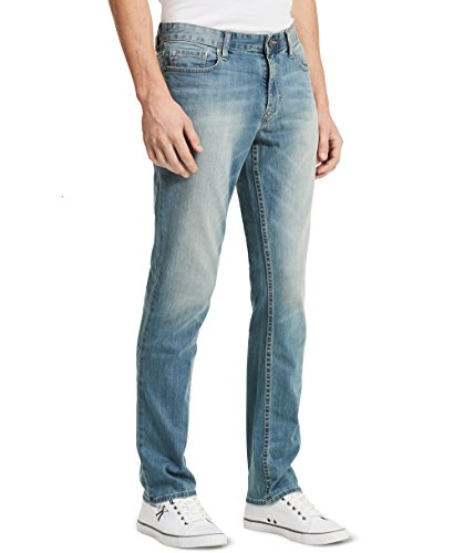 Blue Straight Leg Button (Calvin Klein Jeans Men's,Slim Straight Fit Denim Jean,Silver Bullet,38W 34L)